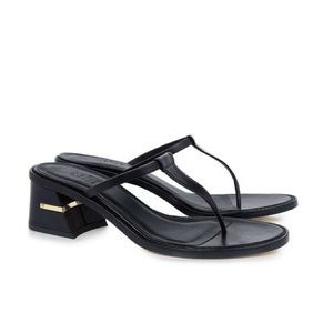 Tibi Black Leather Eliza Sandals Sz 7
